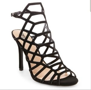 New strappy black gladiator heels.